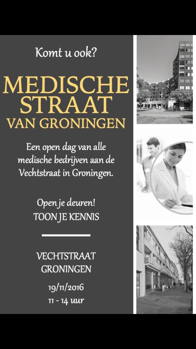 Medische straat van Groningen
